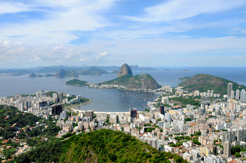 Montagne de Sugarloaf dans Rio de Janeiro, Brésil. image stock