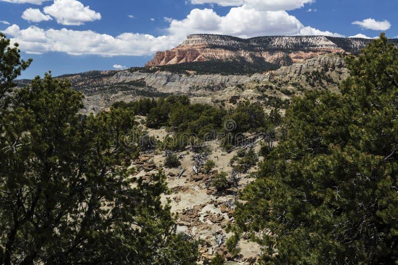Montagne de Tableau de Powell Point près d'Escalante Utah Etats-Unis image stock
