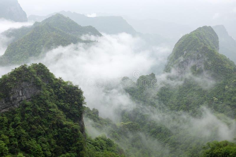 Montagne de Tianmen images libres de droits