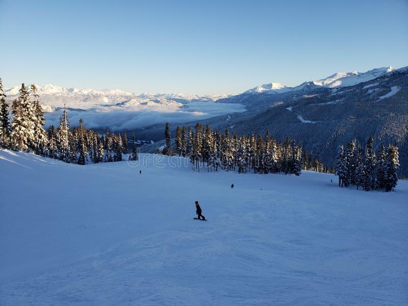 Montagne de Whistler le jour de Noël photo libre de droits