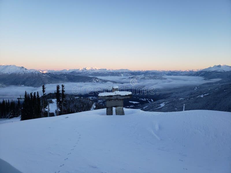 Montagne de Whistler le jour de Noël photographie stock libre de droits