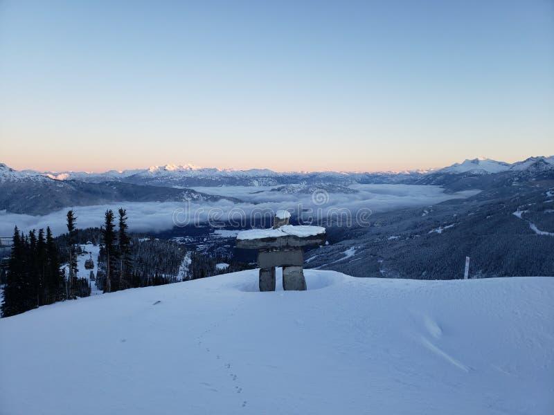 Montagne de Whistler le jour de Noël photographie stock