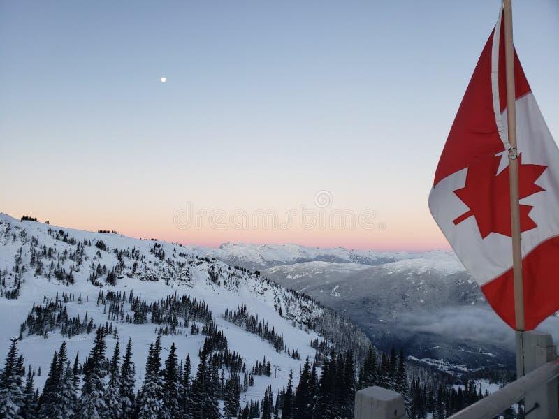 Montagne de Whistler le jour de Noël image libre de droits