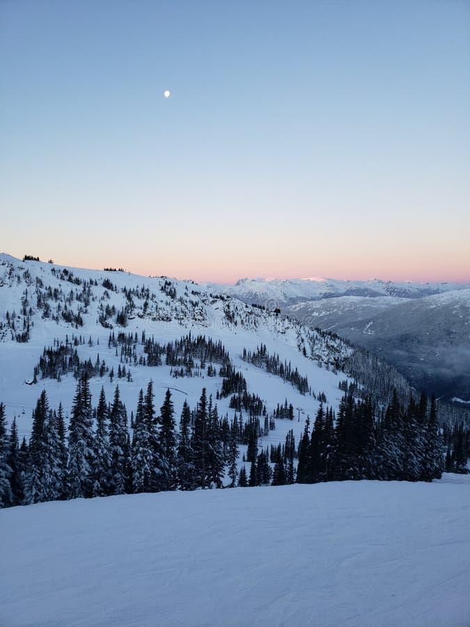 Montagne de Whistler le jour de Noël images libres de droits