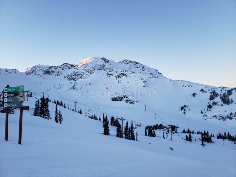 Montagne de Whistler le jour de Noël photo stock