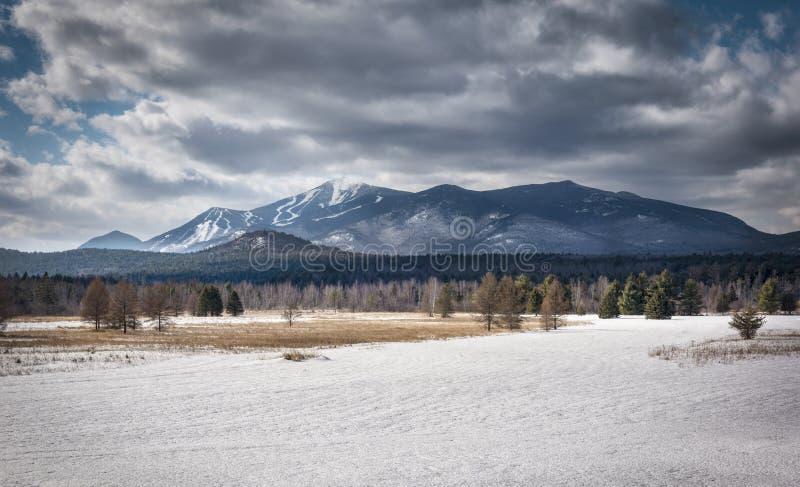 Montagne de Whiteface pendant l'hiver photos stock