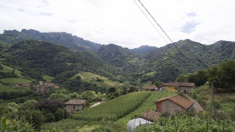 Montagne del nord spagnole fotografia stock