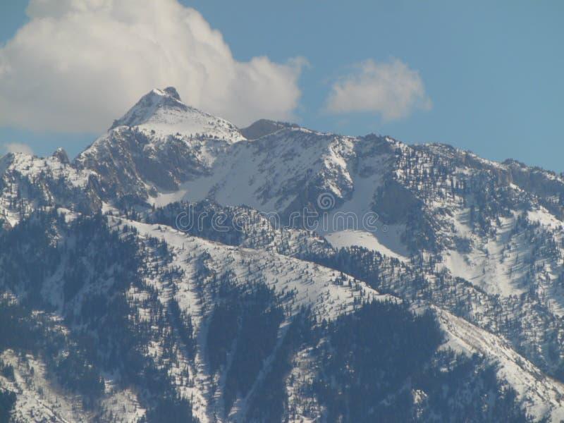 Montagne dell'Utah a dicembre fotografia stock libera da diritti