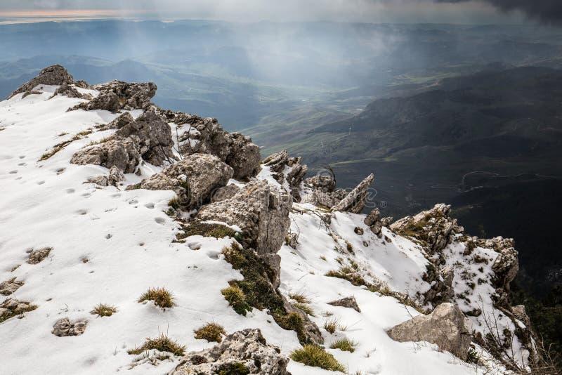 Montagne della Sicilia, Italia immagine stock