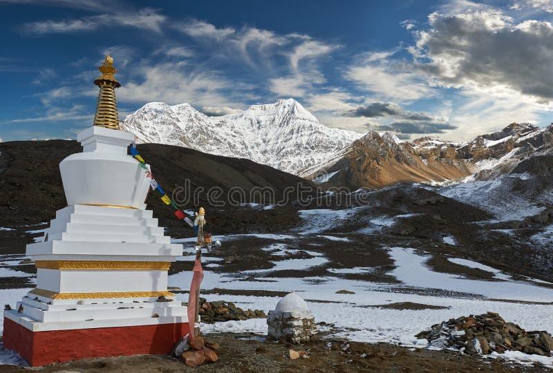 Montagne di Annapurna in Himalaya del Nepal fotografia stock libera da diritti