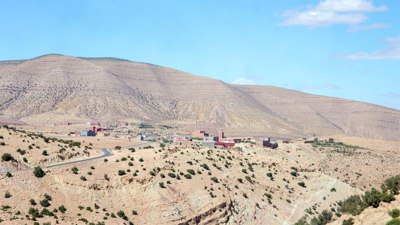 Montagne di atlante paesaggio, Marocco fotografia stock libera da diritti