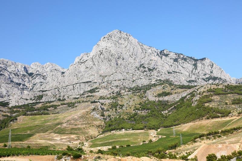 Montagne di Biokovo, Croatia fotografia stock libera da diritti