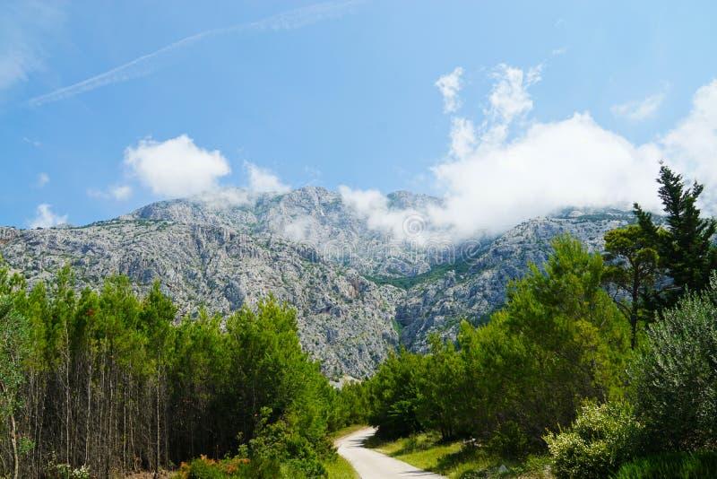 Montagne di Biokovo nel Croatia fotografia stock libera da diritti