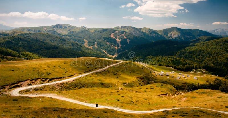 Montagne di Bjelasica, Montenegro fotografia stock