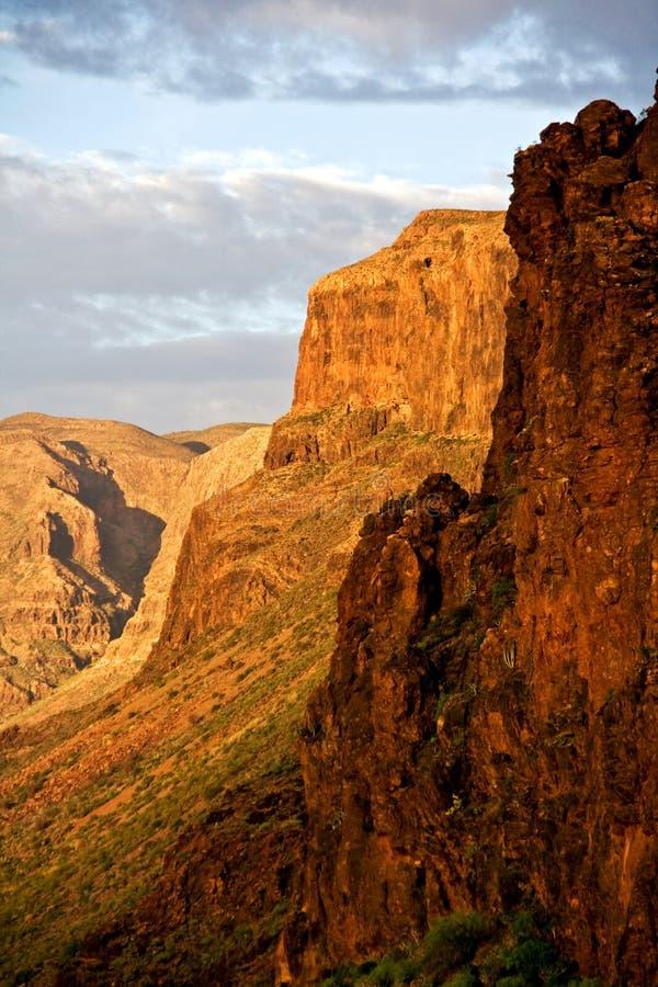 Montagne di Gran Abitante delle isole Canarie immagini stock libere da diritti