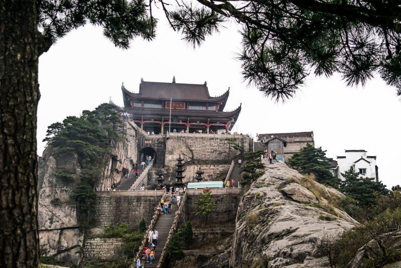 Montagne di Jiuhuashan fotografia stock libera da diritti