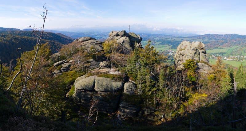 Montagne di Jizera, repubblica Ceca immagini stock libere da diritti