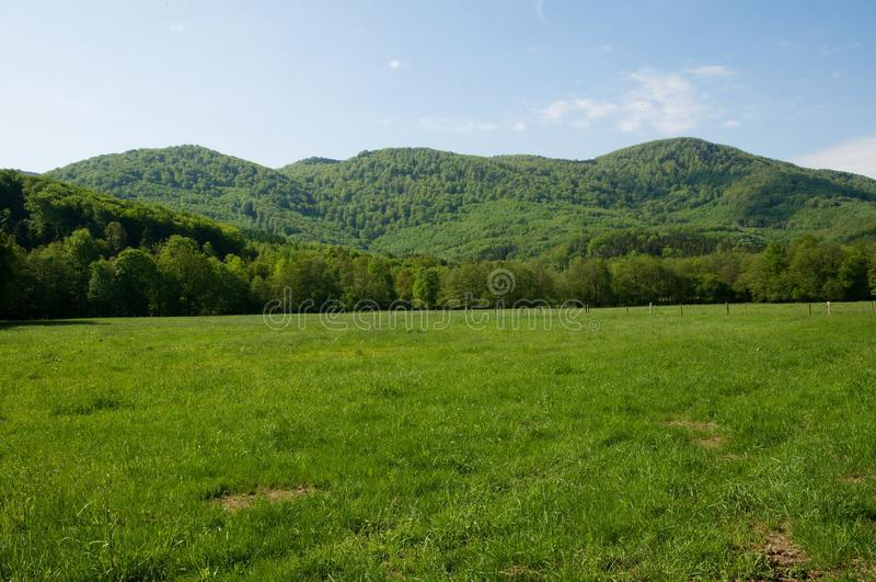 Montagne di Jizera, repubblica Ceca immagine stock libera da diritti