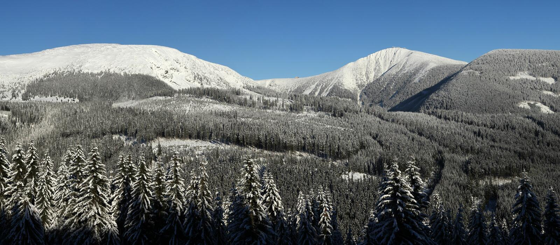 Montagne di Krkonose immagine stock