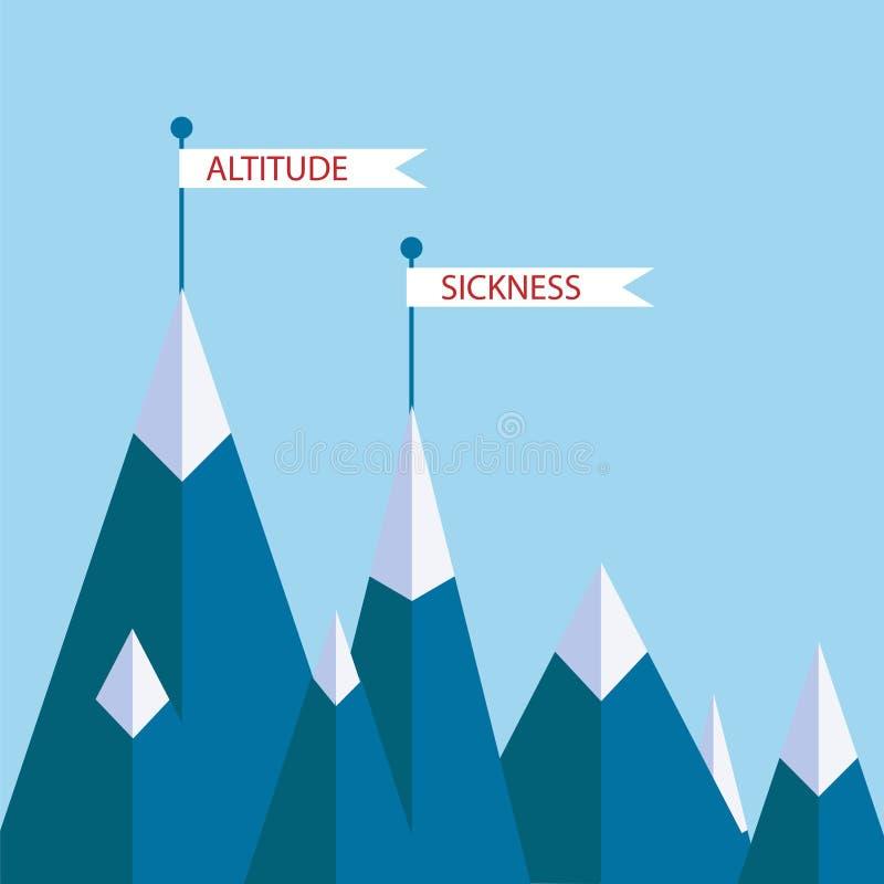 Montagne di mal di montagna illustrazione vettoriale