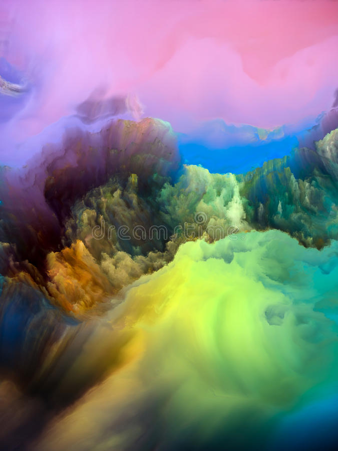 Montagne di miraggio illustrazione di stock