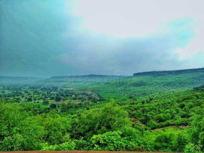 Montagne di monsone fotografia stock libera da diritti