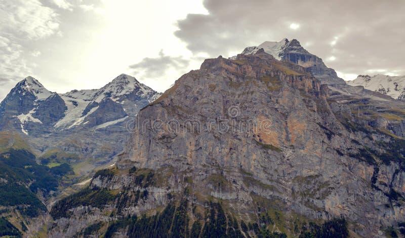 Montagne di Murren fotografia stock