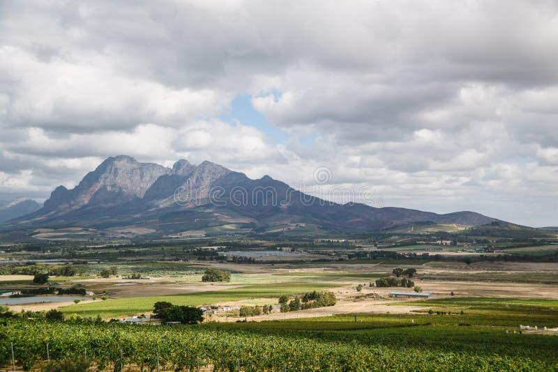 Montagne di Paarl fotografia stock libera da diritti