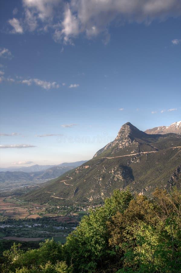 Montagne di Pindos fotografia stock libera da diritti