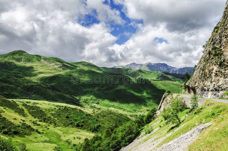 Montagne di Pirenei fotografia stock