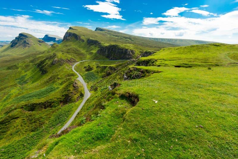 Montagne di Quiraing, isola di Skye fotografia stock