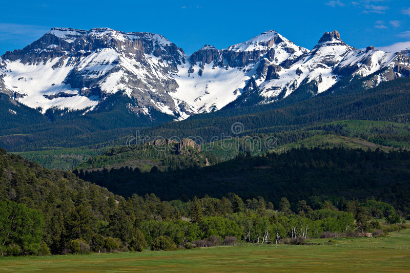 Montagne di San Juan fotografie stock libere da diritti