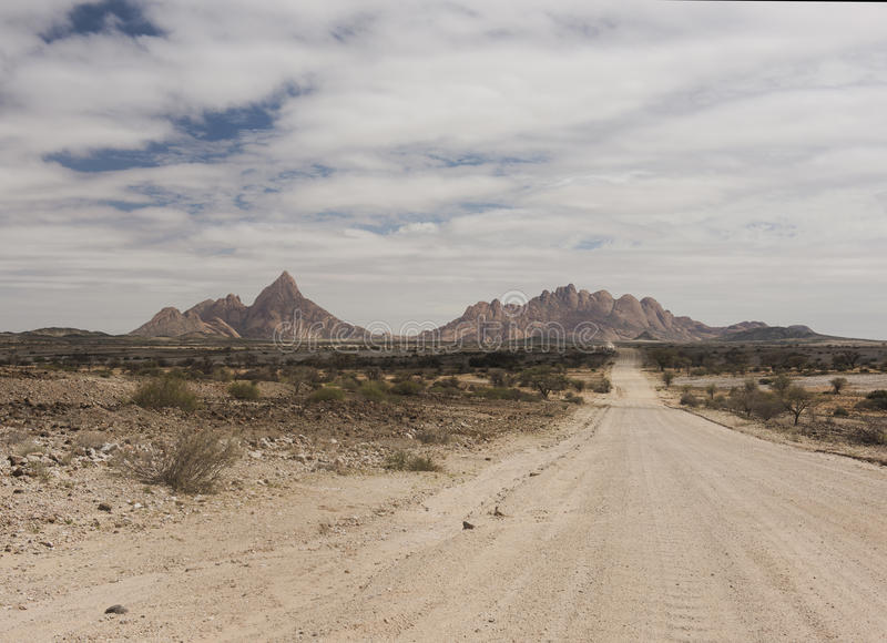 Montagne di Spitzkoppe - Namibia fotografie stock