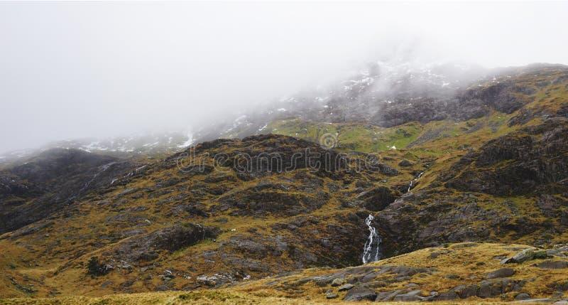 Montagne di stordimento in Snowdon, Galles, Regno Unito immagini stock libere da diritti
