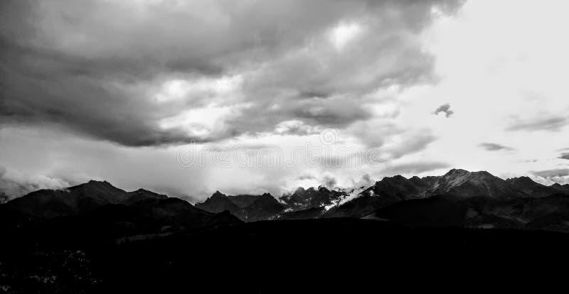 Montagne di Tatra da Glodowka immagini stock libere da diritti