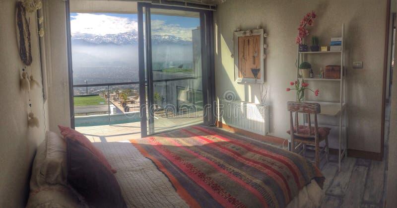 Montagne di vista della camera da letto fotografie stock