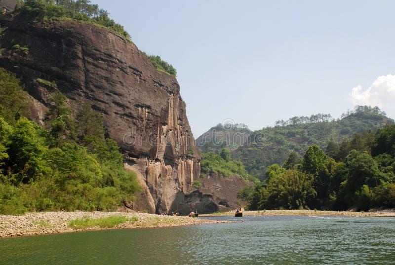 Montagne di Wuyi fotografie stock libere da diritti