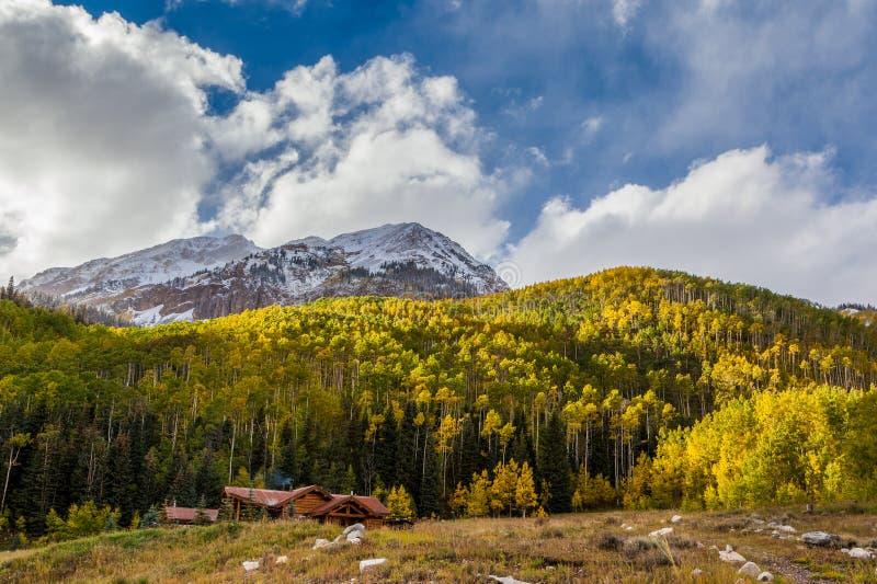 Montagne du Colorado en automne image libre de droits