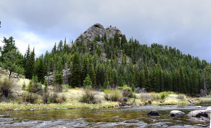 Montagne du Colorado et paysage de courant photo libre de droits