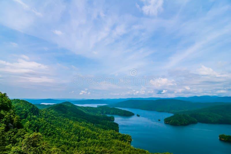 Montagne du sud de Carolina Lake Jocassee Gorges Upstate images stock