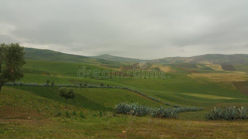 Montagne e fes di regione della città, Marocco fotografie stock