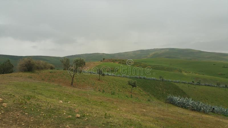 Montagne e fes di regione della città, Marocco fotografia stock