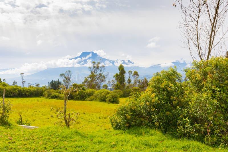 Montagne Equateur d'Imbabura image stock