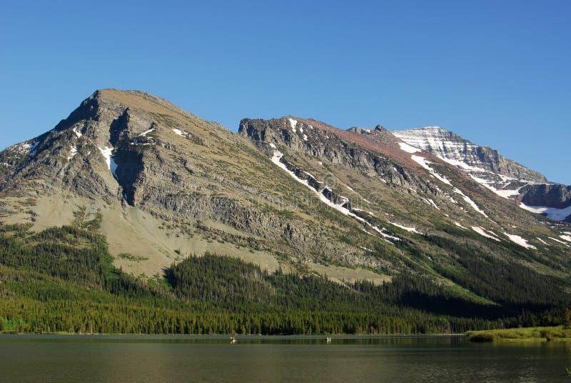 Montagne et lac image libre de droits