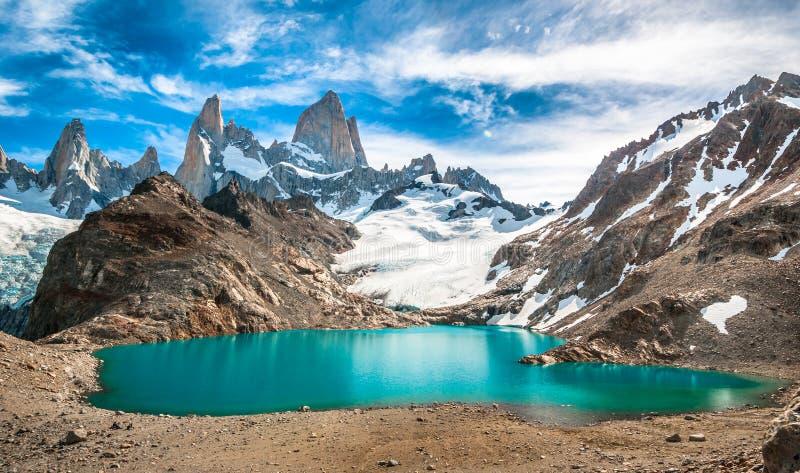 Montagne et Laguna de los Tres, Patagonia, Argentine de Fitz Roy photos libres de droits
