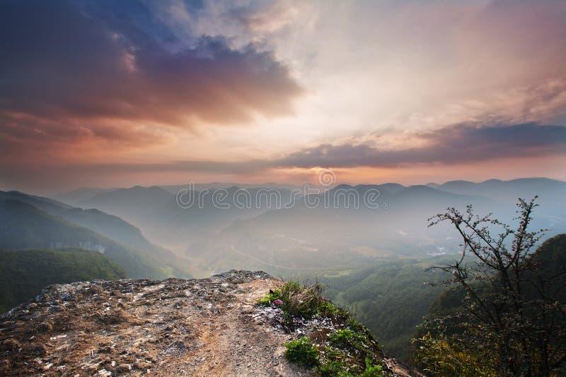 Montagne féerique dans le wulong, Chongqing, porcelaine photographie stock libre de droits