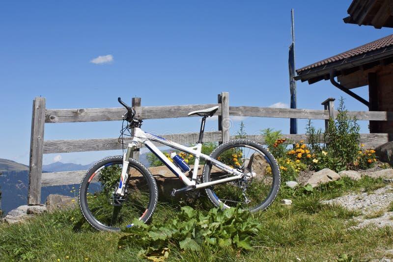 Montagne faisant du vélo au Tyrol du sud image libre de droits