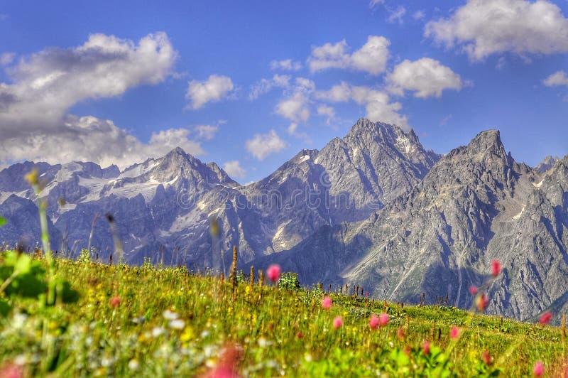 Montagne in Georgia immagine stock libera da diritti