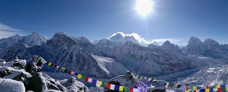 Montagne in Himalaya e ghiacciai fotografia stock libera da diritti