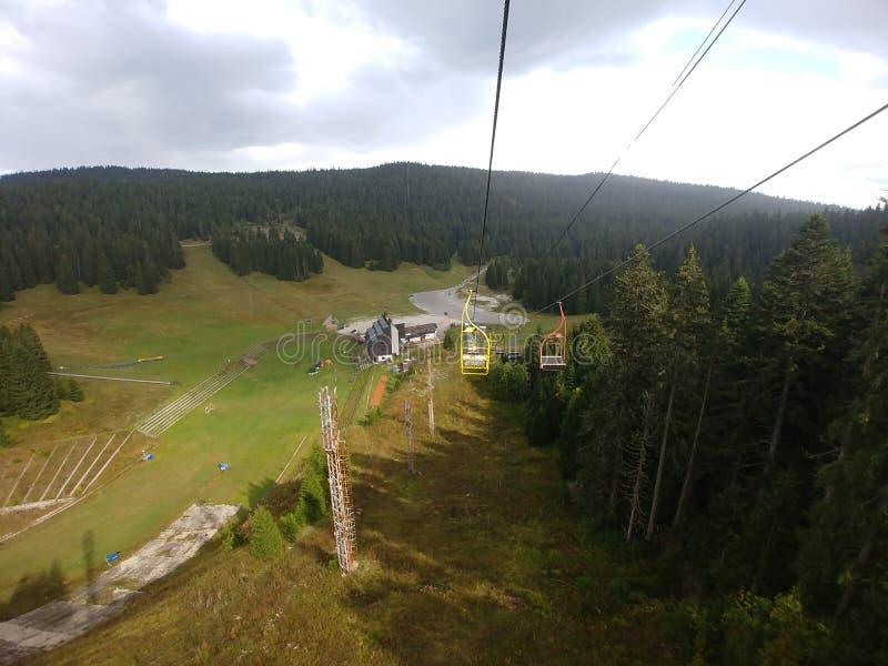 Montagne Igman olimpic vers Sarajevo photos stock